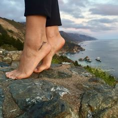 Small minimalist tattoo for Mountain and Nature lovers. Mountain range on ankle tattoo
