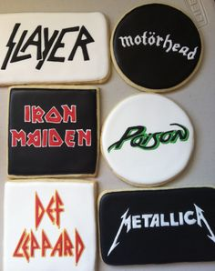 Rock and roll band cookies