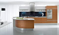 A perfect curved kitchen.