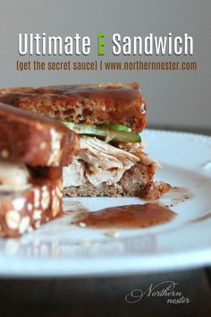 """Here's how to create the ultimate E sandwich for Trim Healthy Mamas! Get the """"secret sauce"""" that will will enable you to load up your bread with moisture and flavor WITHOUT crossing fuels!"""