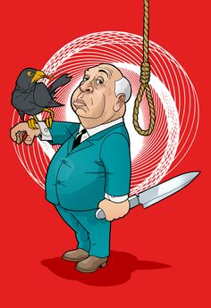 """Alfred Hitchcock, legendary director of """"The Birds"""", """"Vertigo"""", """"Psycho"""" and """"Rope"""" in all his chubby glory."""