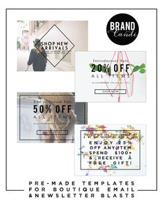 Instant Download - Marketing Template for Boutiques - Set/4 - Fashion Logo - Ad - Boutique Marketing - Newsletter Template
