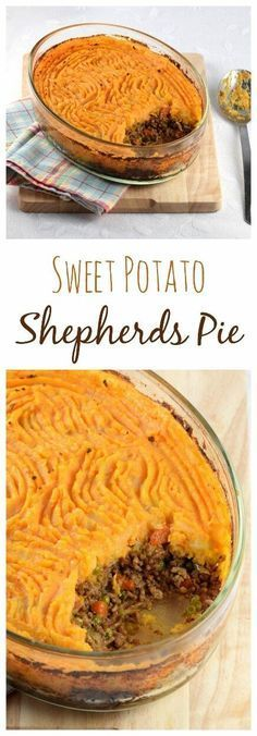 This yummy Shepherds Pie recipe with Sweet Potato Mash is a super tasty healthier version of a favourite family meal idea that kids will love - dairy free recipe (cooking food ground turkey) Shepherds Pie Rezept, Vegan Shepherds Pie, Clean Eating Recipes, Cooking Recipes, Budget Recipes, Family Recipes, Mashed Sweet Potatoes, Sweet Potato Mash, Sweet Potato Dinner