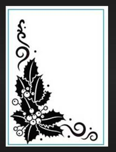 Couture Creations embossing folders CHAMPAGNE /& HOLLY folder Holidays,Christmas