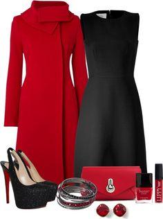 Il rosso è un altro colore che adoro, soprattutto nei soprabiti! Però non indosserei mai quelle scarpe