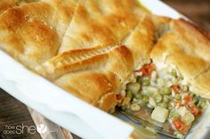 New Recipe! Chicken Pot Pie Casserole☺️ #Food #Drink #Trusper #Tip