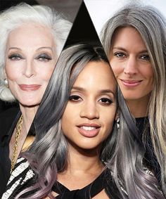 How to Flaunt Gray Hair Like a Celebrity These lovely ladies make gray hairstyles look chic and sophisticated -- see how to make it work for you, too Celebrities with Gray Hair