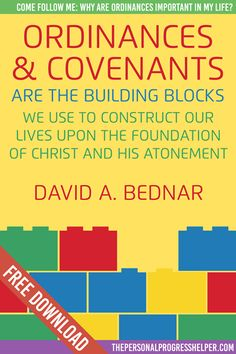 Come Follow Me: Ordinances and Covenants | Why are Ordinances important in my life? Handouts Free Download