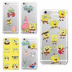 Spongebob Squarepants Patrick Star Gary Glasses Soft Clear Phone Case For iPhone 7Plus 7 6 6S 6Plus 5 5S SE 4 5C Samsung Galaxy