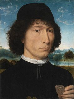 usedcarheaven:  Portrait of a Man with a Roman Coin. Flemish. artist: Hans Memling,1480  Royal Museum of Fine Arts,