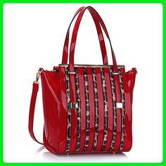 d698e52a9c2b Womens Shoulder Bags Ladies Fashion Tote Handbags Faux Leather Designer New