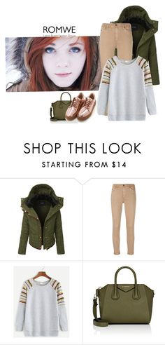 """""""Romwe"""" by elza-345 ❤ liked on Polyvore featuring LE3NO, AG Adriano Goldschmied and Givenchy"""