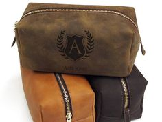 Leather Dopp Kit  Shaving Kit  Toiletry Bag  by urbanwrist on Etsy, $65.00