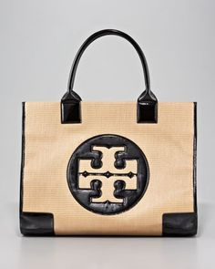 Straw Ella Tote by Tory Burch #Tote #Straw #Tory_Burch