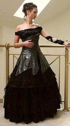 Wedding Dress Fantasy - Black Gothic Wedding Dress 1, $1,075.00 (http://www.weddingdressfantasy.com/black-gothic-wedding-dress-1/)