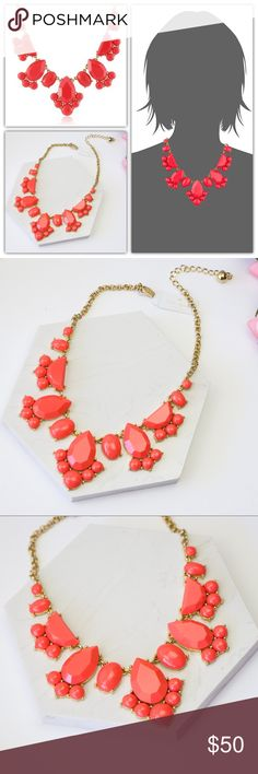 """Kate Spade Day Tripper Geranium Necklace Brand new Dust Pouch included  if you keep one piece of jewelry on hand (stashed in a desk drawer, laid out on the vanity, stowed away in a handbag) make it a piece from our day tripper collection. designed to shine from work to play, the versatile shapes and colors can make a statement and still complement anything you're wearing. * shiny 12-karat gold plated metal * lobster claw closure * style # wbru7673 DETAILS * total chain length: 17"""" * weight…"""