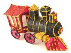3Doodled Train created with the 3Doodler 3D printer pen.