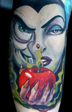 Disney Tattoo Witch Evil Queen Poison Apple
