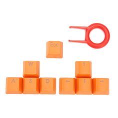 Orange 9 PBT Keys Backlit Transmitting Keycaps For Cherry MX Mechanical Keyboard