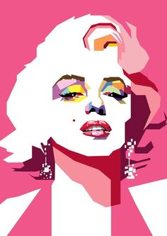Marilyn Monroe in WPAP by ~wedhahai on deviantART