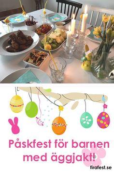Så fixar du snabbt och enkelt en supermysig påskfest för barnen med lekar och äggjakt! #påskfest #barn #barnkalas #äggjakt #påsk
