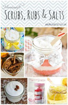 mason jar crafts: bath salts, sugar scrubs