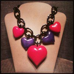 Sweety necklace... Now at cillabijoux!  #cillabijoux #valentinesday #hearts #necklace #fashion #bijoux #accessories #details #cute #sweet #red #chains #new - @raffysole77- #webstagram