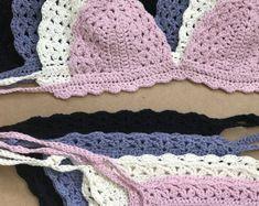Crochet Bikini Pattern - Crochet Lace Bralette Set - Lingerie - Brazilian Bottoms - Boho - Festival wear - CROCHET PATTERN - Crochet Bra