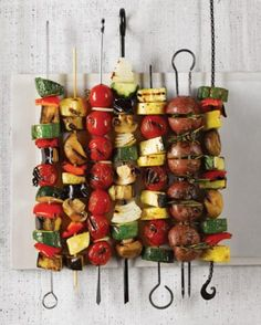 Veggie kebobs are a simple and delicious summertime snack.