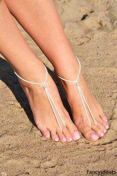 Sandales aux pieds nus, perles sandales pieds nus, plage nu-pieds sandale de mariée perle nu-pieds sandale footless shoes, Bridal sandales pieds nus,