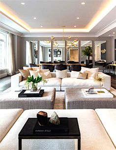 Luxury Living Room Interior Design Luxury Glam Living Room - Home Design Inspiration Glam Living Room, Living Room Lighting, Interior Design Living Room, Living Room Designs, Luxury Living Rooms, Kitchen Interior, Design Kitchen, Livingroom Lighting Ideas, Kitchen Lighting