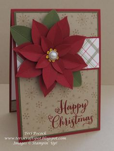 Stampin' Up! - Festive Flower Punch ....  Teri Pocock - http://teriscraftspot.blogspot.co.uk/2015/11/festive-flower-punch.html