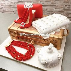 This traditional wedding cake by is ! Traditional WeddingTraditional Wedding Cakes - Pictures from Weddin Nigerian Traditional Wedding, Traditional Wedding Cakes, Traditional Wedding Invitations, Traditional Cakes, Engagement Cake Design, Engagement Cakes, Wedding Prep, Wedding Blog, Wedding Ideas