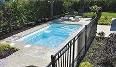 Piscine creusée rectangulaire x Backyard Plan, Small Backyard Pools, Swimming Pools Backyard, Pool Decks, Pool Landscaping, Backyard Patio, Small Backyards, Pool House Designs, Diy Patio