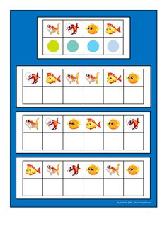 Board for the fish visual perception game. Find the belonging tiles on Autismespektrum on Pinterest. By Autismespektrum