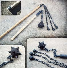 "Manriki chains, shurikens and some other oriental throwing and chain weapons like that ""Kau Sin Ke"" steel whip."
