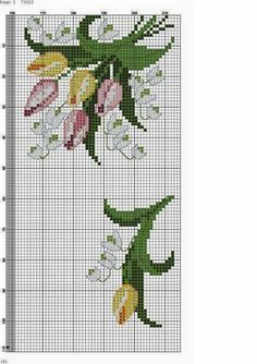 This Pin was discovered by Val Cross Stitch Boarders, Cross Stitch Rose, Cross Stitch Flowers, Counted Cross Stitch Patterns, Cross Stitching, Cross Stitch Embroidery, Rico Design, Fabric Yarn, Friendship Bracelet Patterns
