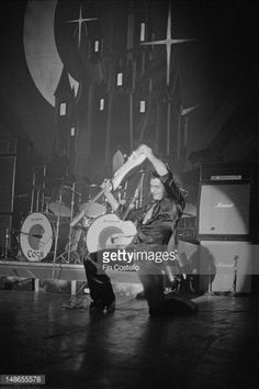 Ritchie Blackmore performs live on stage with Rainbow at the Civic Auditorium in Santa Monica California on 29th November 1975