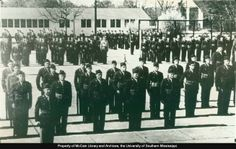 Southern's first ROTC Battalion Military ROTC, 1950-1951.