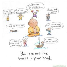 Buddha Doodles - You are not the voices in your head. Like & Repin. Noelito Flow. Noel  Panda http://www.instagram.com/noelitoflow
