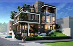 36 Best Ideas For Exterior Design Architecture Buildings Interiors Facade Design, Exterior Design, Architecture Design, House Front Design, Modern House Design, Bungalow Haus Design, Modern Mansion, Dream House Exterior, Modern House Plans