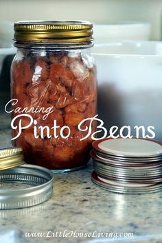 Can up pinto beans so super quick and frugal from scratch meals! Each jar costs only pennies. Step by step photo tutorial and video included!