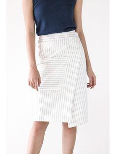 Pinstripe Pocket Skirt