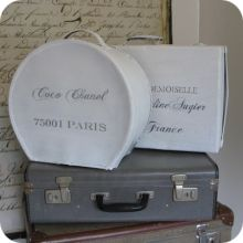repaint old suitcases and stencil