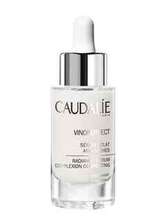 Caudalie Vino perfect Radiance Serum helps lighten dark spots due to, acne scars and age spots. Keeping the skin radiant as well as keeps acne at bay.... My favorite serum.