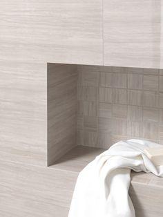 #Baños con #mosaicos. La esencia del #mármol en el #porcelánico SOUL. - #marble…