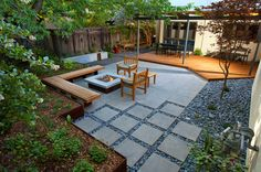 Idea for Brunswick?  Flat slabs as a transition from the deck to the yard?