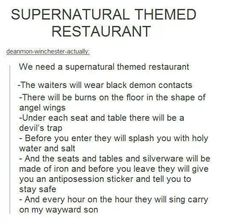 Funny Supernatural Posts That Remind You It's The Best Show Ever (Episode Devils Trap, Nos4a2, Supernatural Memes, Supernatural Merchandise, Supernatural Party, Spn Memes, Shake It Off, Super Natural, Destiel