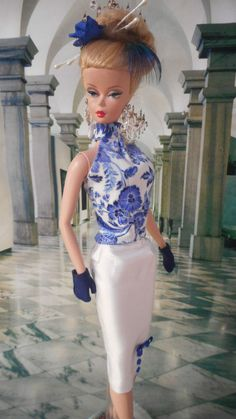 Silkstone Vintage Barbie Doll Clothes Repro FR OOAK Victoire Roux by Mary