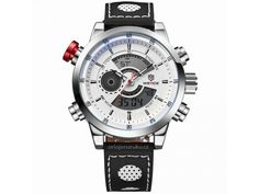 Cheap watch speaker, Buy Quality watch decor directly from China watch odm Suppliers: WEIDE Men's Fashion Casual Sports Watch Quartz Digital LED Back Light Military relogio masculino Waterproof Men Watches Sport Chic, Sport Casual, Casual Watches, Cool Watches, Watches For Men, Men's Watches, Stylish Watches, Mens Watches Leather, Leather Men